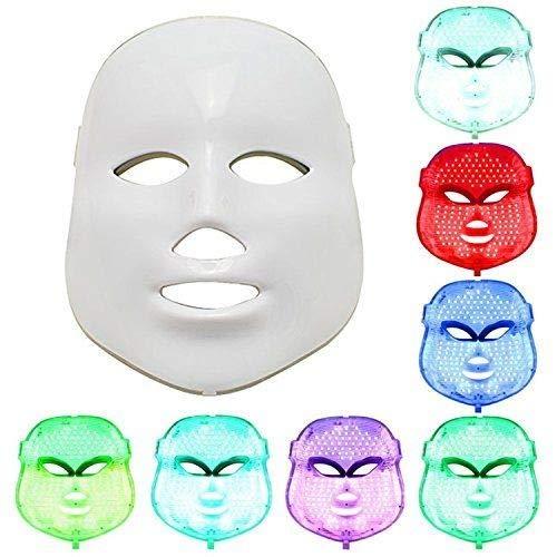Máscara de LED para fotobiostimolación y cromoterapia con LED - 7 colores con mando a distancia