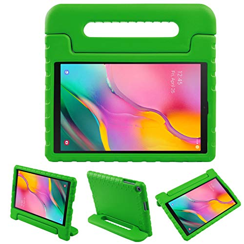 BelleStyle Kids Case for Samsung Galaxy Tab A 10.1 2019, EVA Shockproof Lightweight Protective Child Case Convertible Handle Stand Cover for Galaxy Tab A 10.1 Inch T515/T510 2019 Release (Green)