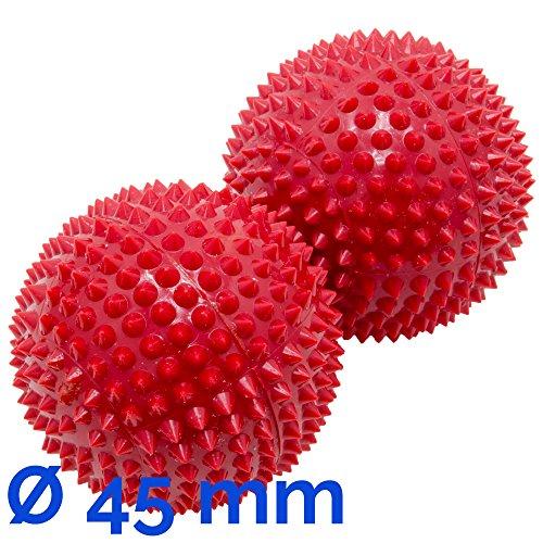 Magnet Akupunktur Akupressur Massage Kugeln | 2er Set | Ø ca. 45 mm | rot
