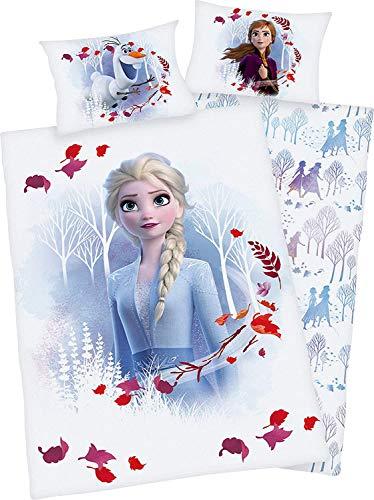 Herding Disney\'s Die Eiskönigin 2 Bettwäsche- Set, Baumwolle, weiß, 40x60cm, 100x135cm