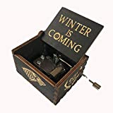 MINGZE Caja de música de Madera manivela, Pure Hand-Classical Music Box Hand-Wooden Music Box Creative Wooden Crafts Best Gifts, Variedad de Estilos (Game of Thrones(Black))