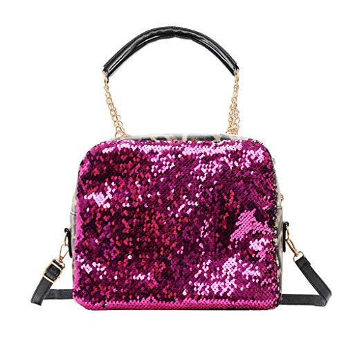 Shoulder Bag Women Small Crossbody Bag with Wild Chain Solid Color Bucket Bag