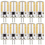ZHENMING G4 LED Bulb Bin-pin LED Light Bulb 3W(20W 30W Halogen Equivalent) 120V Warm White 3000K (Cannot be Used at Low Voltage 12V ) - Pack of 10