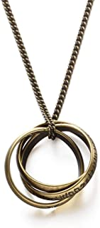 Necklace Simple Personality Hip Hop Three Ring Ring Pendant Simple Trend Accessories