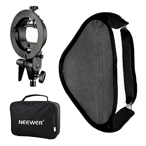 Neewer Estudio de la foto de múltiples funciones con softbox de tipo S yugo de montaje Soporte para montaje y estuche de transporte Set para la fotografía de retrato / producto (60 cm x 60)