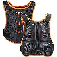 WILDKEN Protección del Pecho Chicos Chaleco de moto para Niños Peto Racing Guard con protectores de Espalda para Motocross Patinaje Patín Esquí Snowboard (Naranja, L)
