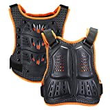 WILDKEN Kids Body Armor, Motocross Chest Protector Children Protective Gear Body Guard Vest Protective Jacket with Spine Protector for Dirt Bike Skiing Cycling Riding Skateboarding (Orange, L)