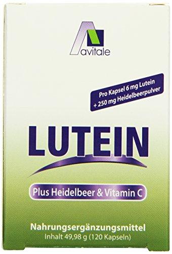 Avitale Lutein Kapseln 6 mg + Heidelbeer, 120 Stück, 1er Pack (1 x 60 g)