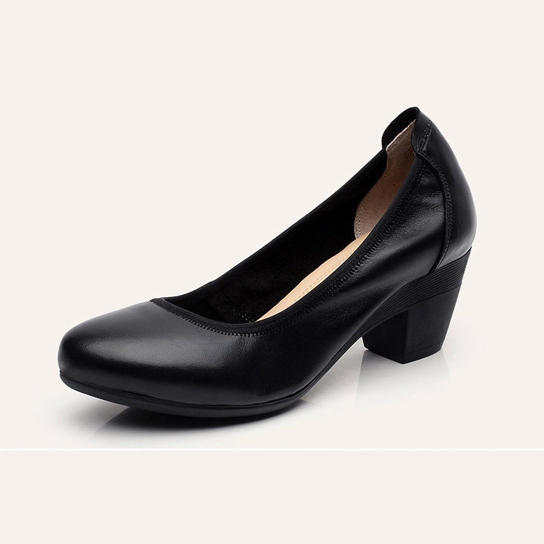 XUERUI Middle-Heeled Work shoes Women's Shallow Professional Women's shoes (Size   EU36 UK3.5 CN35)