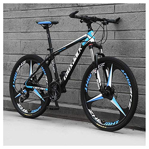 Chenbz Outdoor sports 26' Front Suspension Folding Mountain Bike 30Speeds Bicycle Men Or Women MTB HighCarbon Steel Frame with Dual Oil Brakes,Black