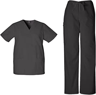 Cherokee Workwear Originals Unisex Scrub Set - 4876 V-Neck Top & 4100 Drawstring Cargo Pant