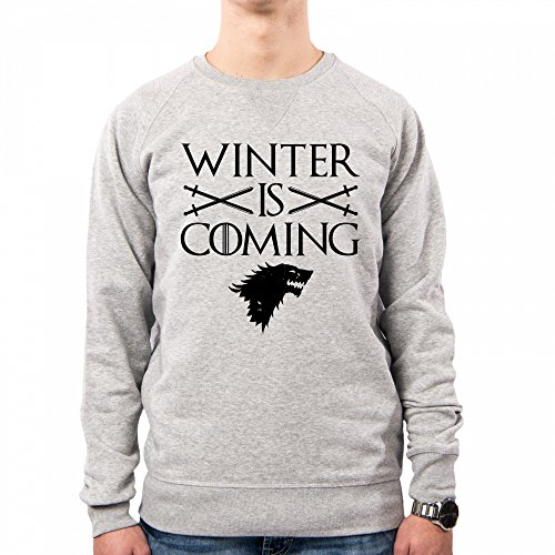 PACDESIGN Sudadera Hombre Stark Winter Is Coming Games of Thrones Serie TV Il Trono Di Spade TV Series Pd1457a