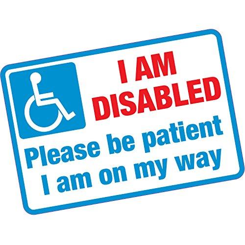 Ik ben gehandicapt Wees geduldig Vinyl Sticker Voordeur Mogelijkheid Home Carer