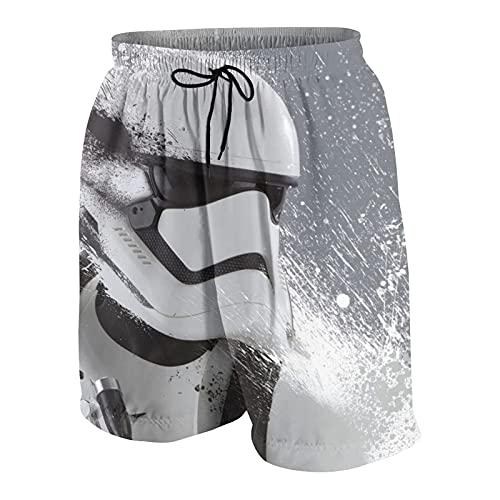 Hdadwy Star Mandalorian Wars Bañador Unisex para jóvenes Shorts de baño de Secado rápido Shorts de baño Ligeros Trajes de baño Delgados Transpirables y Resistentes al Desgaste