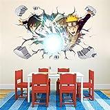 EASTVAPS Pegatinas de Pared Anime Naruto Uzumaki Vinilos Decorativos de Ventanas rotas 60x90cm