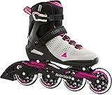 Rollerblade Damen Sirio 90 Inline-Skate, Grigio Chiaro/Rosa, 41 EU