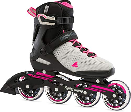 Rollerblade Damen Sirio 90 Inline-Skate, Grigio Chiaro/Rosa, 38 EU