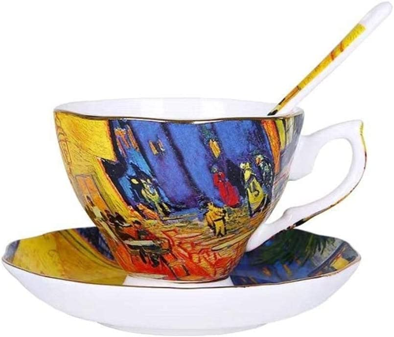 Copa de vino Taza de café Taza Van Gogh Art Painting Tazas De Café La Noche Estrellada, Girasoles, El Sembrador, Iris Saint-Remy Café Tazas De Té, Utensilios De Cocina