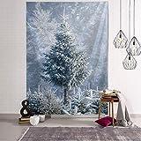 N / A Nuevo Tapiz de árboles de Navidad para Colgar en la Pared, Tela para Colgar el día de Navidad, Tela para decoración de Escena, Tela de Pared A9 200x150CM