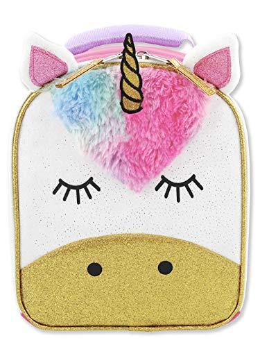 Unicorn Girls Soft Insulated School Lunch Box (One Size, Pink/White)