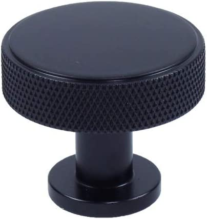 10 Pack Challenge the lowest price Century Genuine Round Knob Matte Black 3 1 Cabinet Dia 8 inch