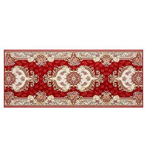 ditan XIAWU Korridor Teppich Zuhause Komm Herein Eingang Gang Streifen rutschfest (Color : Red, Size : 100x150cm)