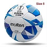 Zuq F5U1710-G9B - Balón de fútbol, tamaño oficial, tamaño 4, tamaño 5, balón de fútbol de la liga, balón de fútbol al aire libre, balón de entrenamiento de fútbol, fútbol F5U1710-G9B, tamaño 5