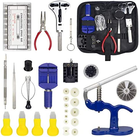 Zistel Watch Repair Kit with 15 Tools 3 in 1 Watch Bands Link Pin Tool Set with Carrying Case product image
