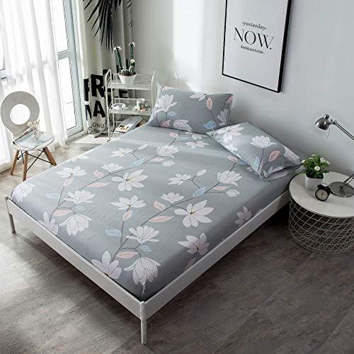 JRDTYS Matratzen-Bett-Schoner mit Spannumrandung   Auch für Boxspring-Betten und Wasser-Betten geeigneEinteiliges Baumwollbettlaken-09_150X200
