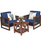 Best Tangkula Patio Furniture Sets - Tangkula 3 Pieces Patio Wicker Furniture Set, Rattan Review