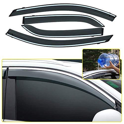 wansosuper Geeignet für Autofenster Visier für Ecosport 2013-2018 Sunny Visor Windabweiser Regenabweiser Sonnenschutz Lüftungs Deflector 4 Stück Autostyling,Focus Fließheck/Limousine 12-18