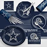 Creative Converting Dallas Cowboys Ultimate Fan Party Supplies Kit, Serves 8