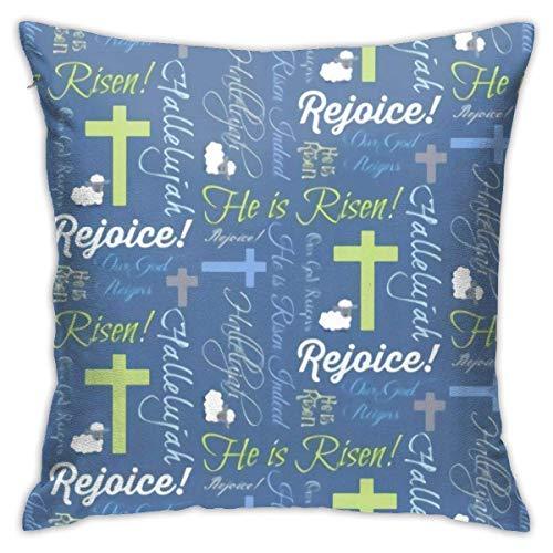 Christian Er ist auferstanden Kissenbezug Soft Throw Kissen Kissen Couch Kissenbezug 45X45cm