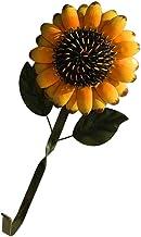 IMIKEYA Metal Sunflower Wall Hook Iron Coats Hook Utilities Hook Wall Key Hanger Vintage Garden Wall Flower Sculpture for ...