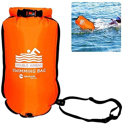 Boa da nuoto, altamente visibile, boa di sicurezza per nuotare in acqua aperta, triatleti, kayaker, snorkeling, allenamento sicuro nuotata