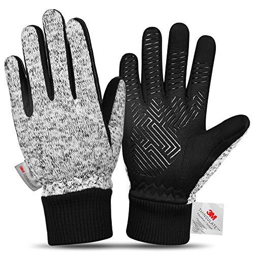 MOREOK -20°F Winterhandschuhe Herren Damen 3M Thinsulate Touchscreen Handschuhe Warme Handschuhe für Reiten Laufen Wandern Radfahren-L