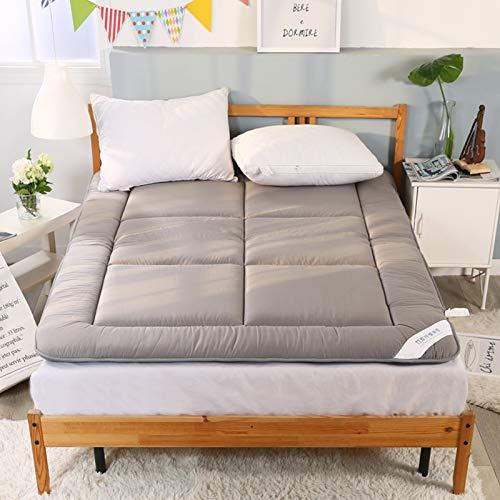 YPSM Colchon Tatami Japones,Plegable Colchón Algodón Sleeping Pad Colchón Suelo Tatami Chicos Chicas Dormitorio Colchón Cojín-Gris 180×200cm(70×79inch)