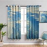 SONGDAYONE Paneles de cortina de paisaje Sunny Clear...