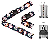 Sugar Skull Day of The Dead Travel Luggage Strap Suitcase Security Belt. Heavy Duty &...