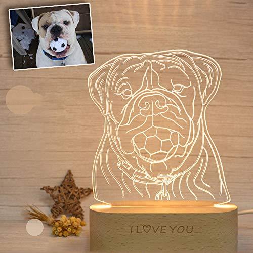 Personalisierte benutzerdefinierte Foto 3D Lampe Foto Gravur benutzerdefinierte Text 3D Kristall LED Lampe Nachtlicht personalisierte Geschenk mit Ihrem eigenen Bild & Text Weihnachtsgeschenk