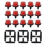 JNCH 50 Pcs Goteros para Riego Cabeza para riego por Goteo + 50 Pcs Conector para Tubo de riego por Goteo de 4/7mm - Kit riego por Goteo