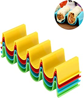 4 Pack Taco Holder Stand - ABS Material, Dishwasher Safe, for Burritos, Hotdogs in Buns, Sandwiches, Subs, and more by Sunsetbaby