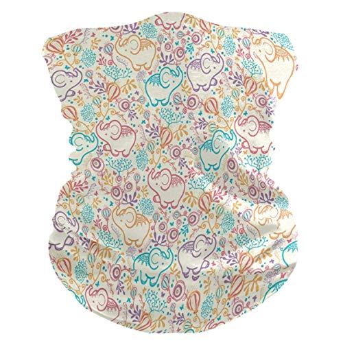 MJDIY Hoofdband, leuke olifant bloemenhals gamasche hoofdband hoofdband bandana, mooie sjaal wrap voor wandelen, jagen en fietsen
