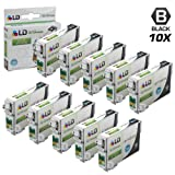 LD Remanufactured Ink Cartridge Replacement for Epson 126 T126120 (Black, 10-Pack)