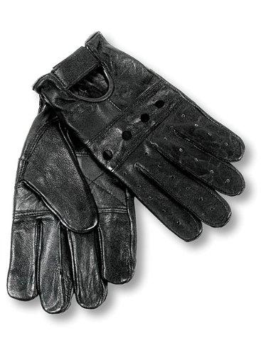Interstate Leather Men's Basic Driving Gloves (Black, Medium)