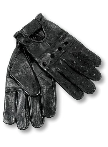 Interstate Leather Men's Basic Driving Gloves (Black, Large)