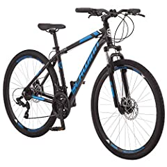 "Aluminum dual sport frame, suspension fork is designed for versatile riding. 700c wheel size fits riders 5'4"" to 6'2"" in height 21-speed shifters with rear derailleur provides precise gear changes Alloy V-brakes deliver sure stopping power Alloy doub..."