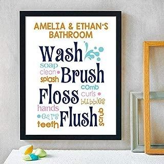 Bathroom Paper Art Print, Bathroom Sign, Kids Bathroom, Kids Bathroom, Bathroom Art Wall Decor, Gender Neutral Bathroom, Boy Girl Bathroom Decor, Shared Bathroom Decor