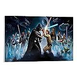 SSKJTC Gemälde auf Leinwand Star Wars Darth Vader und Luke
