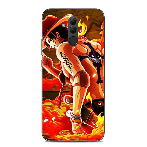 Joestar Shockproof Thin Protective Clear Soft Liquid TPU Case Coque Cover for Huawei Mate 20 Lite-Luffy-Anime One-Piece 7